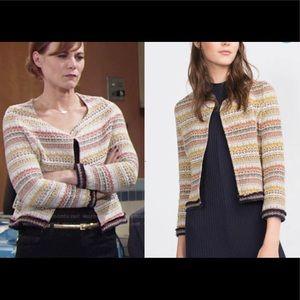 Zara Jacquard Embroidered Blazer Jacket